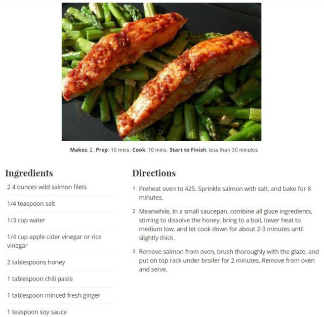 salmon and recipe